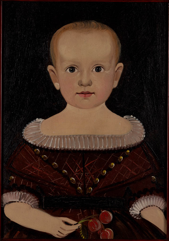 PAIR OF STURTEVANT HAMBLIN (ACTIVE C. 1825 1856), ATTRIBUTED, FOLK ART PORTRAITS OF A BROTHER AND SISTER
