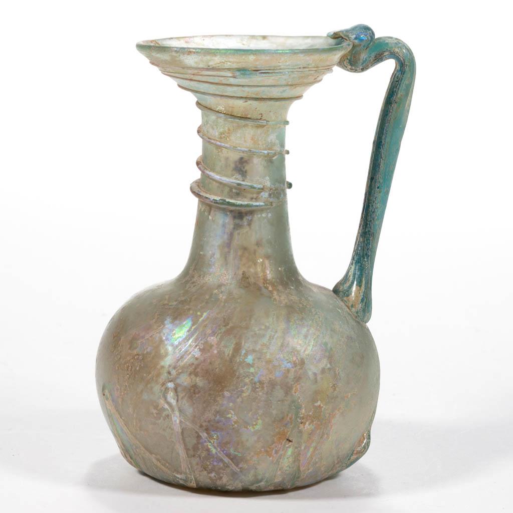 BLOWN ANCIENT GLASS DIMINUTIVE EWER