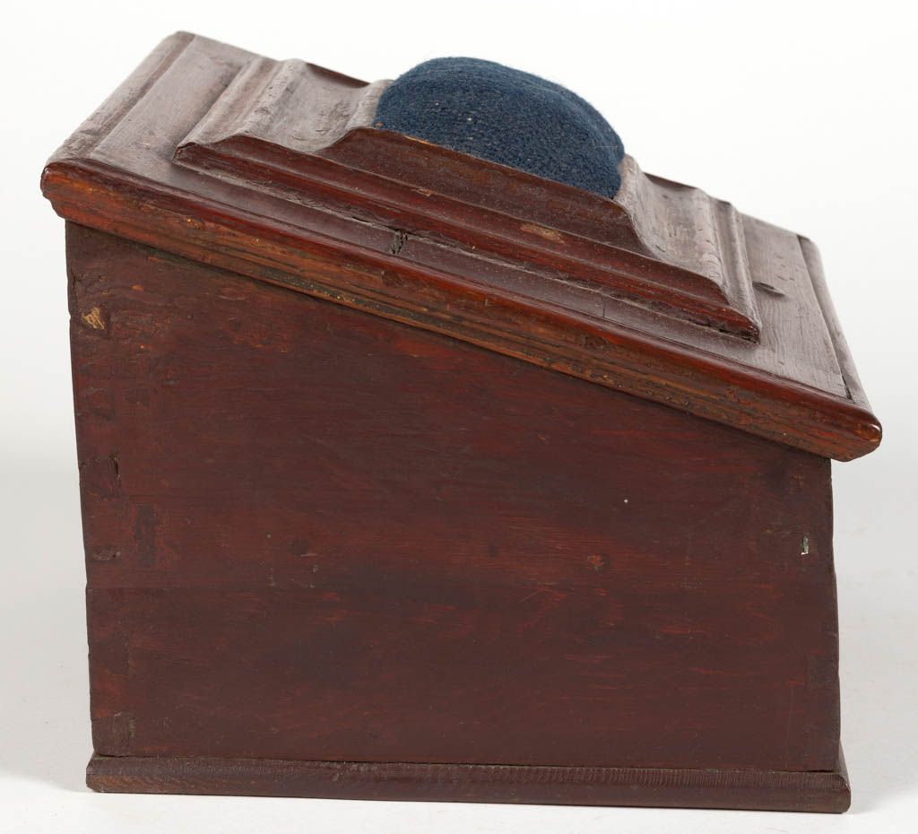 COUNTRY PAINTED PINE SEWING BOX - Jeffrey S. Evans ...