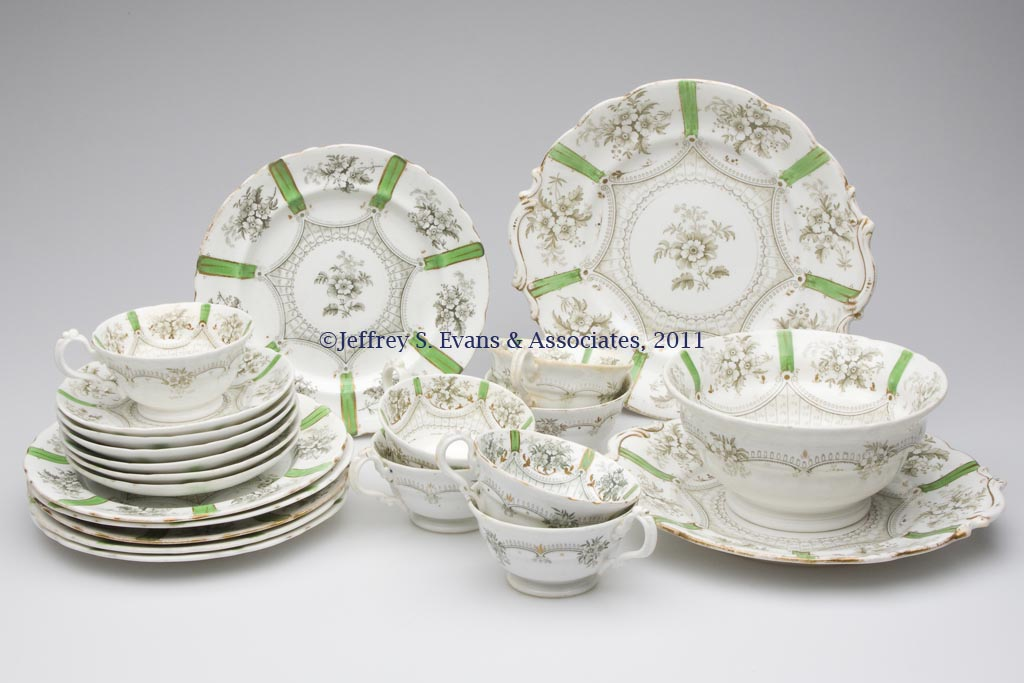 STAFFORDSHIRE TRANSFERWARE PARTIAL DINNER SERVICE