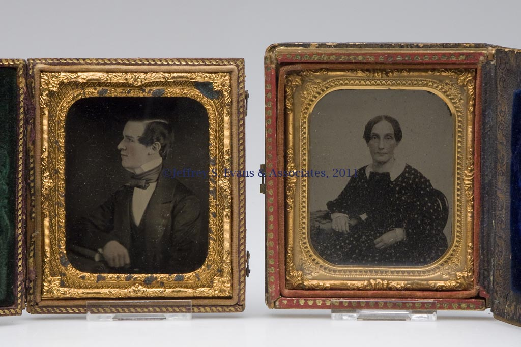 PAIR OF VIRGINIA / CIVIL WAR INTEREST RUBY AMBROTYPE CASED IMAGES