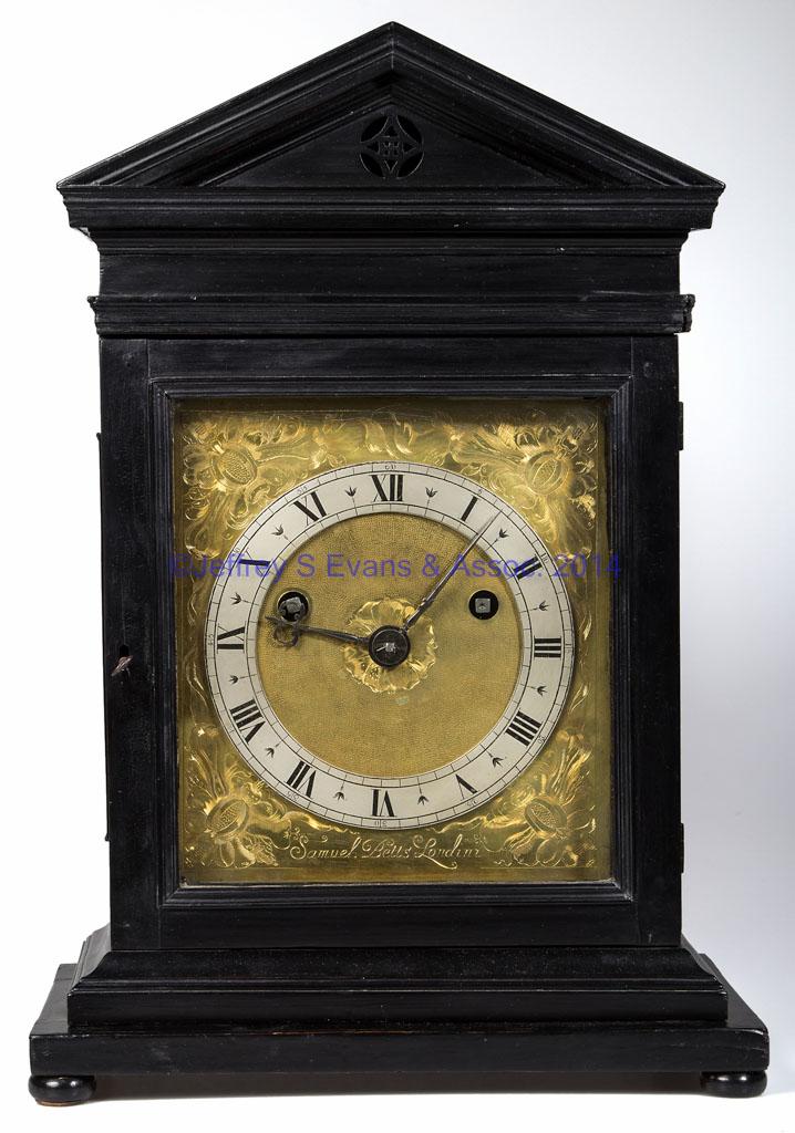 SAMUEL BETTS (LONDON, ACTIVE 1645 1673) EBONIZED BRACKET CLOCK