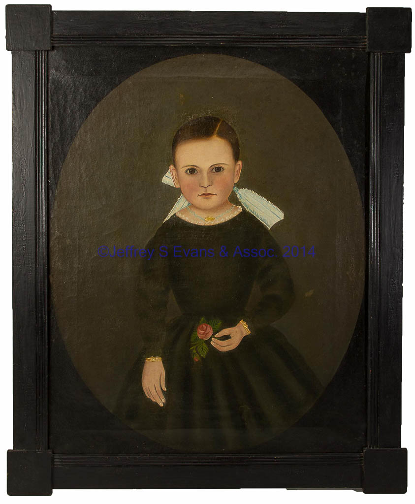 JOHN JAMES TRUMBULL ARNOLD (PENNSYLVANIA, MARYLAND, VIRGINIA, 1812 1865) FOLK ART PORTRAIT