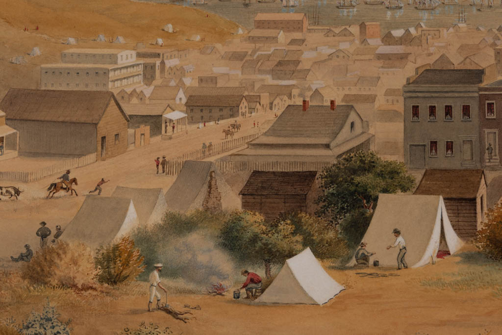 GEORGE HENRY BURGESS (BRITISH AMERICAN, 1831 1905) HISTORICAL PANORAMIC VIEW OF SAN FRANCISCO, CALIFORNIA