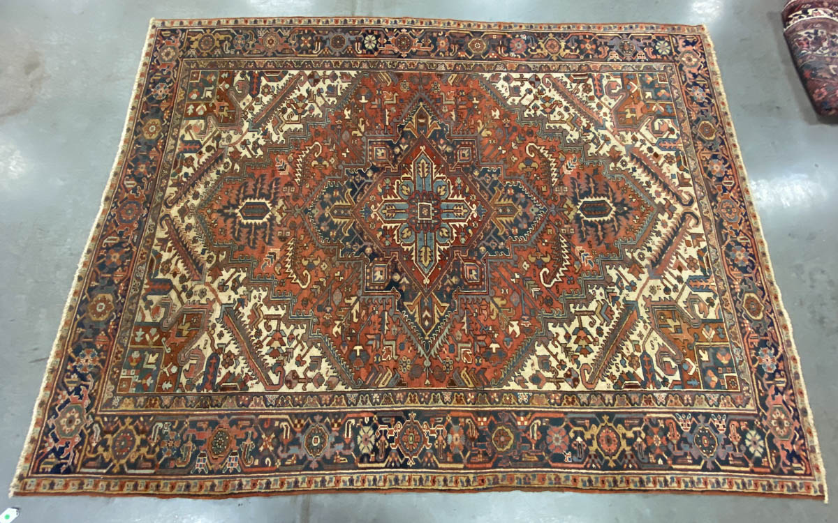 ANTIQUE PERSIAN ROOM SIZE ORIENTAL RUG / CARPET
