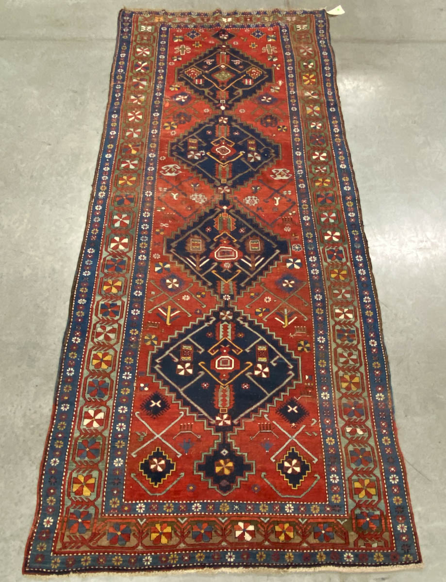 ANTIQUE CAUCASIAN KAZAK TRIBAL RUG / CARPET