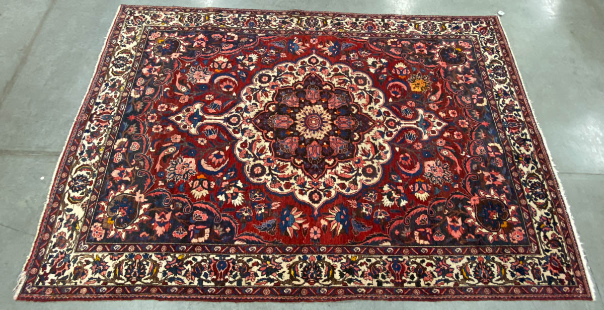 SEMI ANTIQUE PERSIAN SCATTER AREA / ROOM SIZE RUG